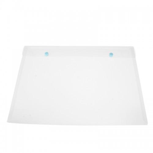 Transparent Double Snap Texture Document Bag Folder File Bag Storage Folder Button Bag