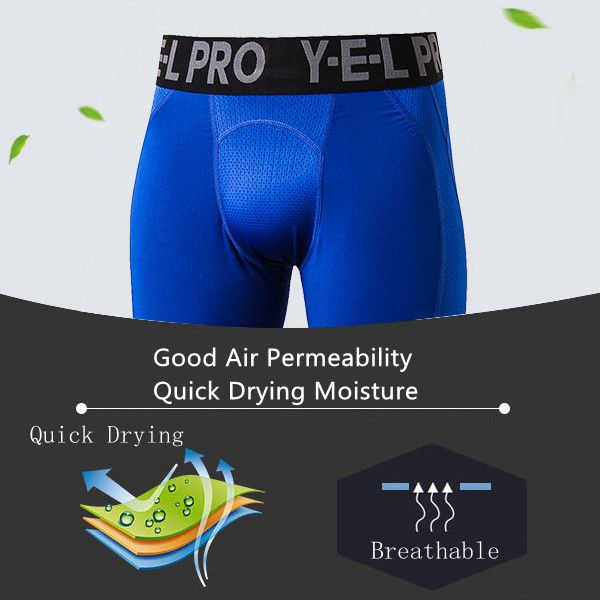 PRO Men's Sport Fitness Training Running Shorts Casual Stretch Quick Dry Breathable Shorts