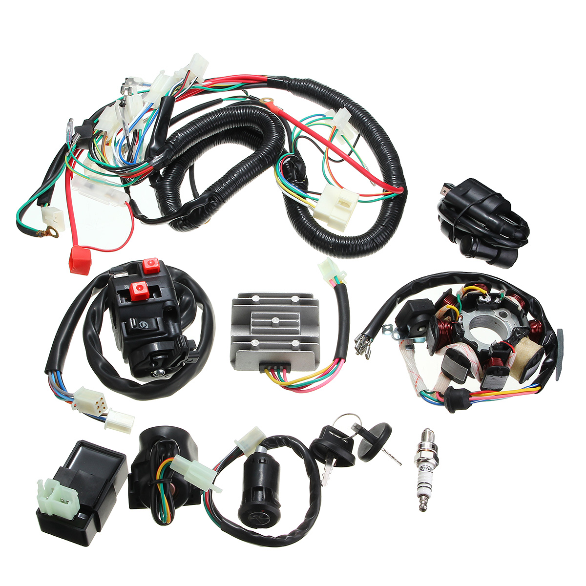 125cc Atv Wiring Residential Electrical Symbols Qiye Engine Diagram 150cc 200cc 250cc Quad Electric Cdi Coil Wire Harness Stator Assembly Set Alex Nld Loncin