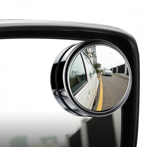 Car Vehicle Blind Spot Mirror Rear View Mirrors HD Convex Glass 360 Degree View Adjustable Mirror