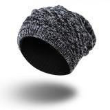 Men Women Knitted Beanies Hat Casual Winter Warm Double Side Wear Bonnet Hat