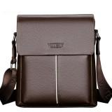 Men PU Leather Minimalist Shoulder Bag Leisure Business Crossbody Bag Briefcase