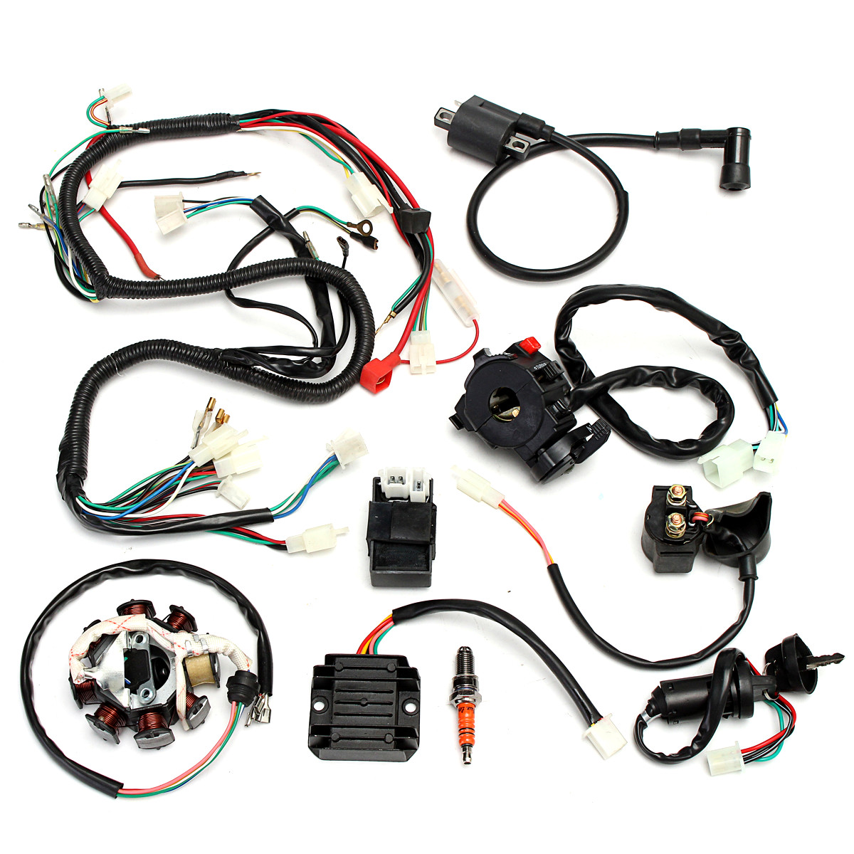 complete electrics wiring harness for chinese dirt bike atv quad 150 250 300cc Wiring Harness 93A050059