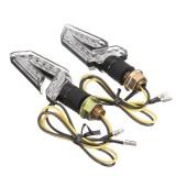 Pair 12V E9 LED Turn Signal Indicator Running Lamp Blinker Universal Motorcycle