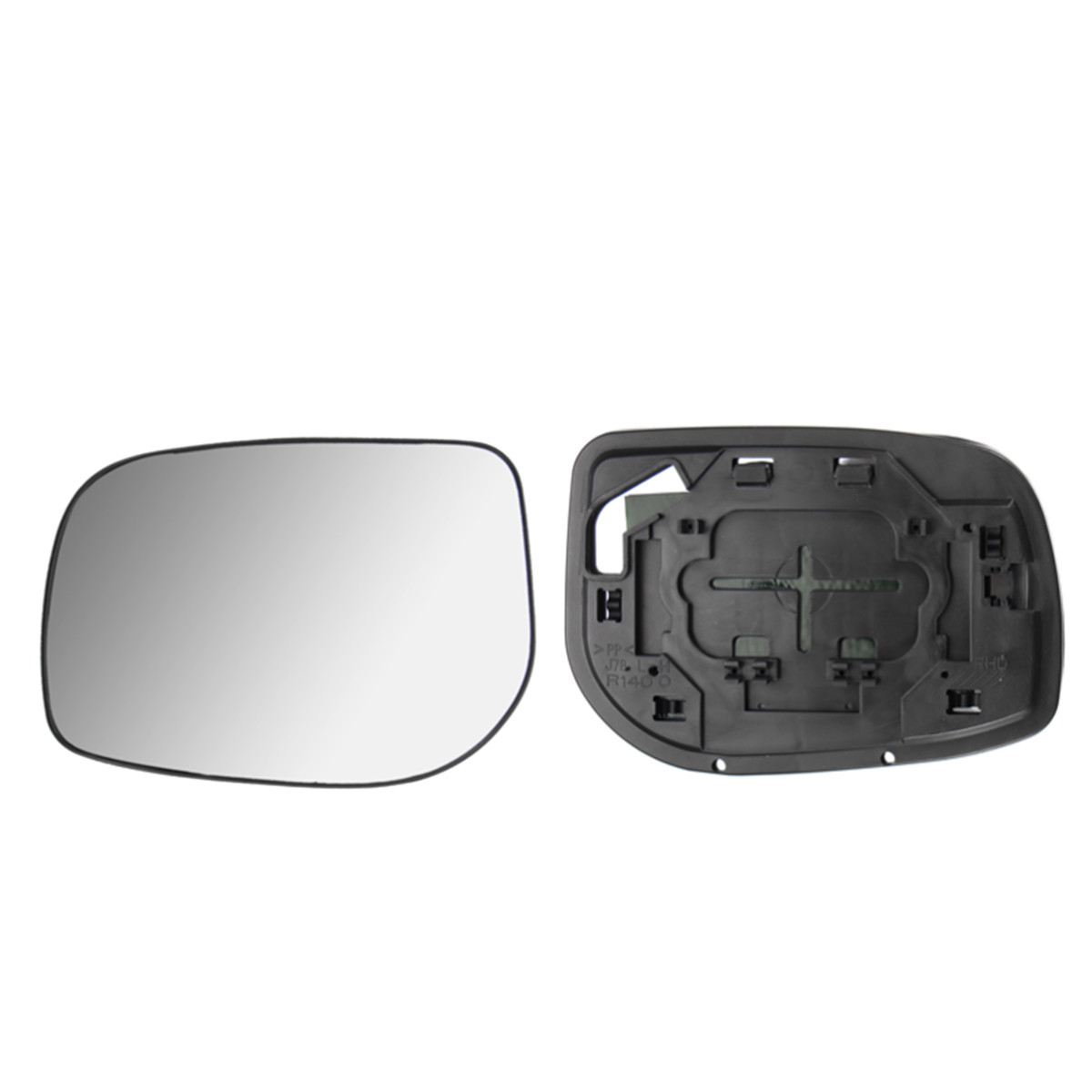 Car Left Doorwing Mirror Glass Silver Nonheated Base For Toyota