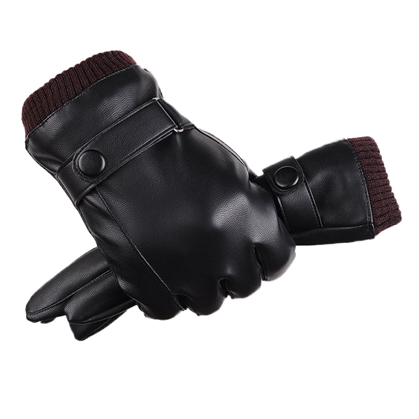 Bicycle Cycling Winter Warm Suede Gloves Windproof Thermal Riding Biking Mittens
