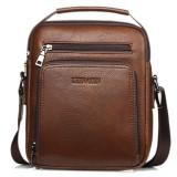 PU Leather Clutch Bag Casual Vintage Waterproof Multi-functional Shoulder Crossbody Bag For Men