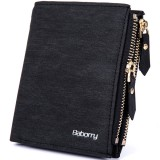 RFID Blocking Secure Wallet Protective Coin Bag Business PU Leather Zipper Wallet For Men