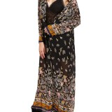 Retro Women Clothing Long Kimono Butterfly Print Cardigan