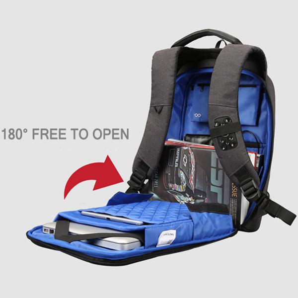 518a02af47 KINGSONS 13 15 Inch Laptop Backpack Waterproof Anti-theft Backpack ...