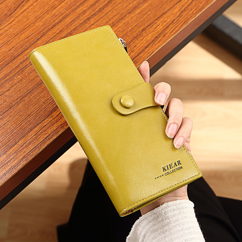New Fashion Women High Quality PU Leather Long Wallet Handbag Card Holder Coin Purse
