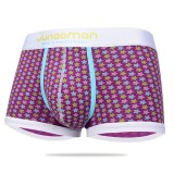 Men Comfortable Breathable Cotton Fashion Printing Boxers Low Rise Underwear