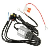 DC 12V 20A Motorcycle Xenon Lamp HID Controller High/Low Light Stabilizer Harness Wiring