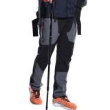 Men's Outdoor Fleece Windproof Waterproof Pants Warm Breathable Soft Shell Climbing Pants