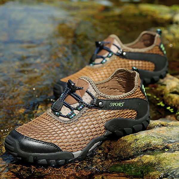 Men Mesh Anti Collision Toe Hiking Climbing Outdoor Athletic Shoes