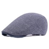 Mens Cotton Solid Beret Caps Casual Summer Sunscreen Forward Caps Flat Hat
