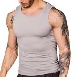 Men's Thread Body Sculpting Tights Vest Sexy High Elastic Waist Tummy Tuck Sport Tank Tops