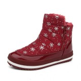 Winter Women Snow Boots Cotton Keep Warm Plush Outdoor Ankle Boots