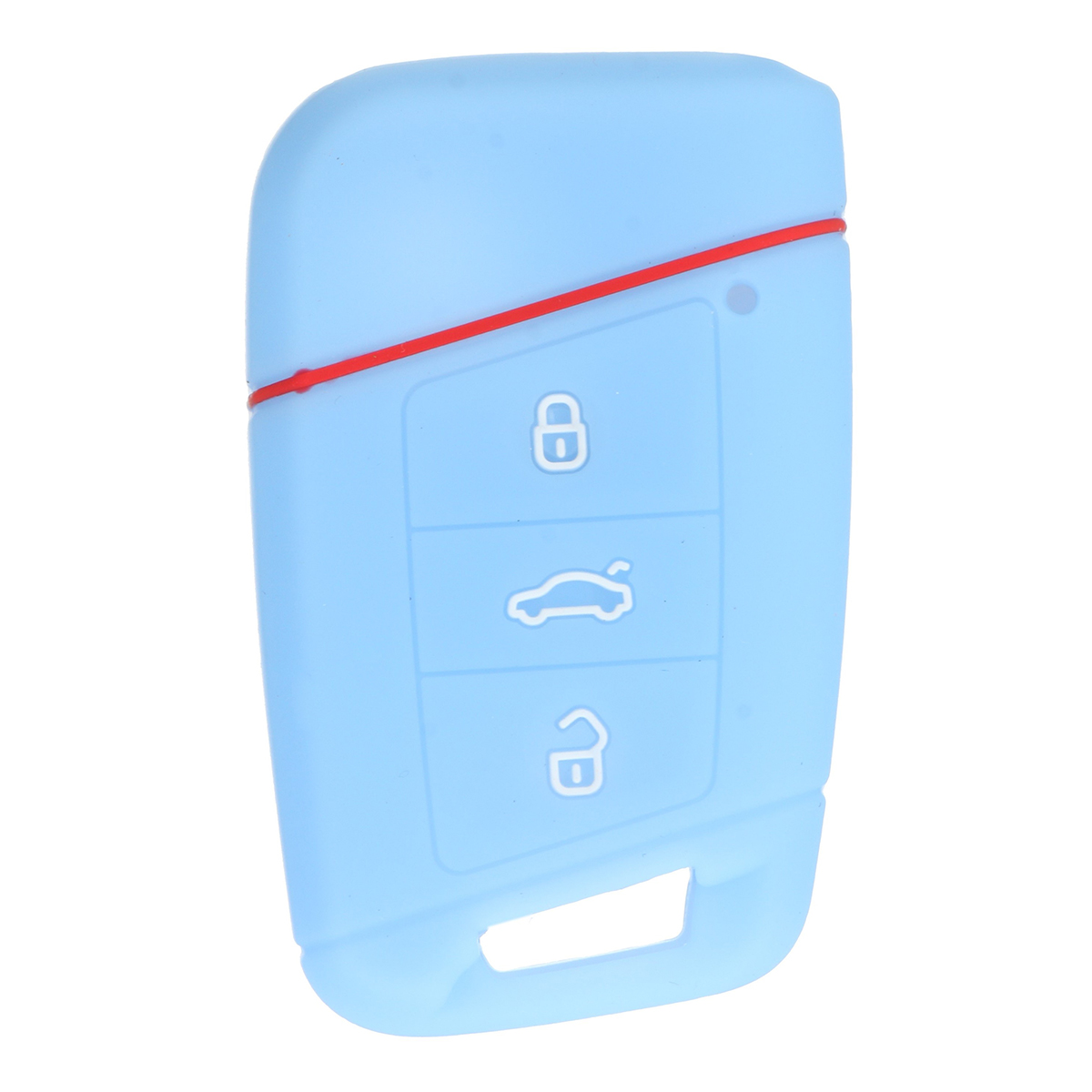 Car Key Case 3 Buttons Silicone Remote Key Case cover FOB For VW