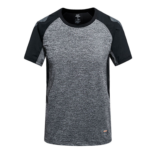 Men's Outdoor Quick Drying T-shirt Casuals Slim Fitness Breathable O-neck Short Sleeved Tops Tees