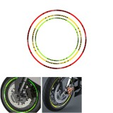 Motorcycle Rim Stripe Wheel Decals Reflective Tape Bike Car Sticker Green Red Yellow Universal