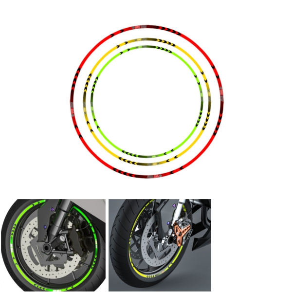 MTnoble Sticker Moto Sticker Roue Stripe Decal Reflective Rim V/élo D/écalque for Tous Kawasaki ER-6N ER6N Color : Blue
