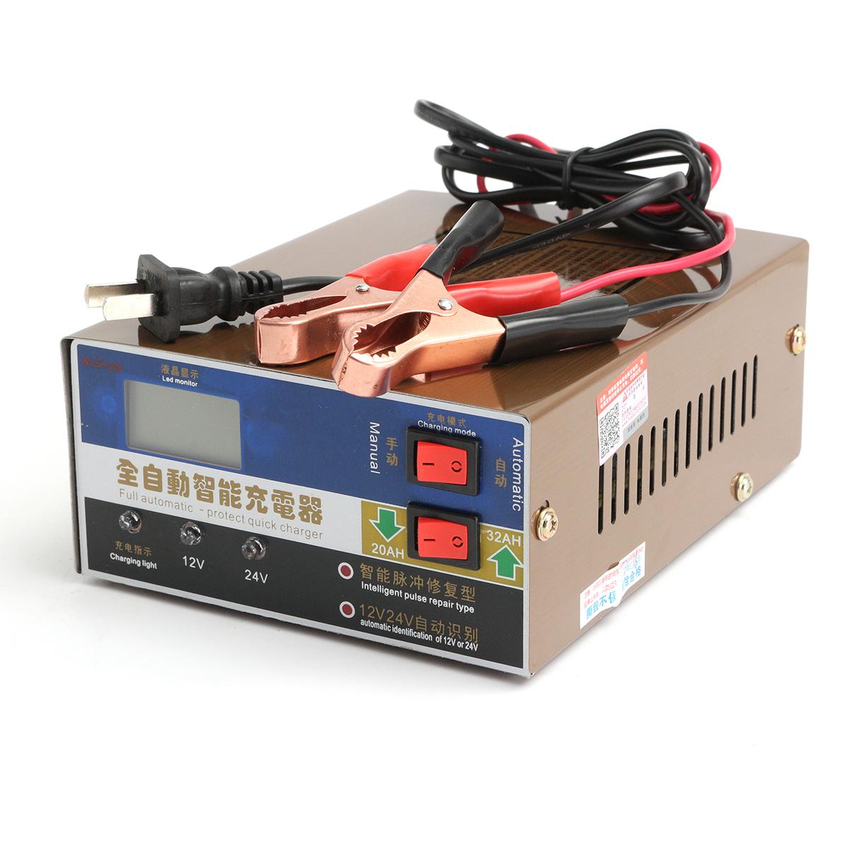12v 24v 100ah car motorcycle battery charger intelligent pulse repair smart. Black Bedroom Furniture Sets. Home Design Ideas