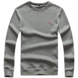 Men's Brief Style O-neck Tick Sweater Casual Cotton Long Sleeve Sweatshirt