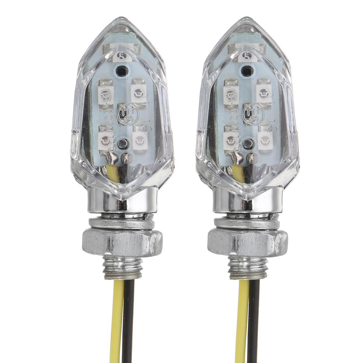 5 SMD LED Turn Signal Amber Mini Motorcycle Blinker Indicators Lights