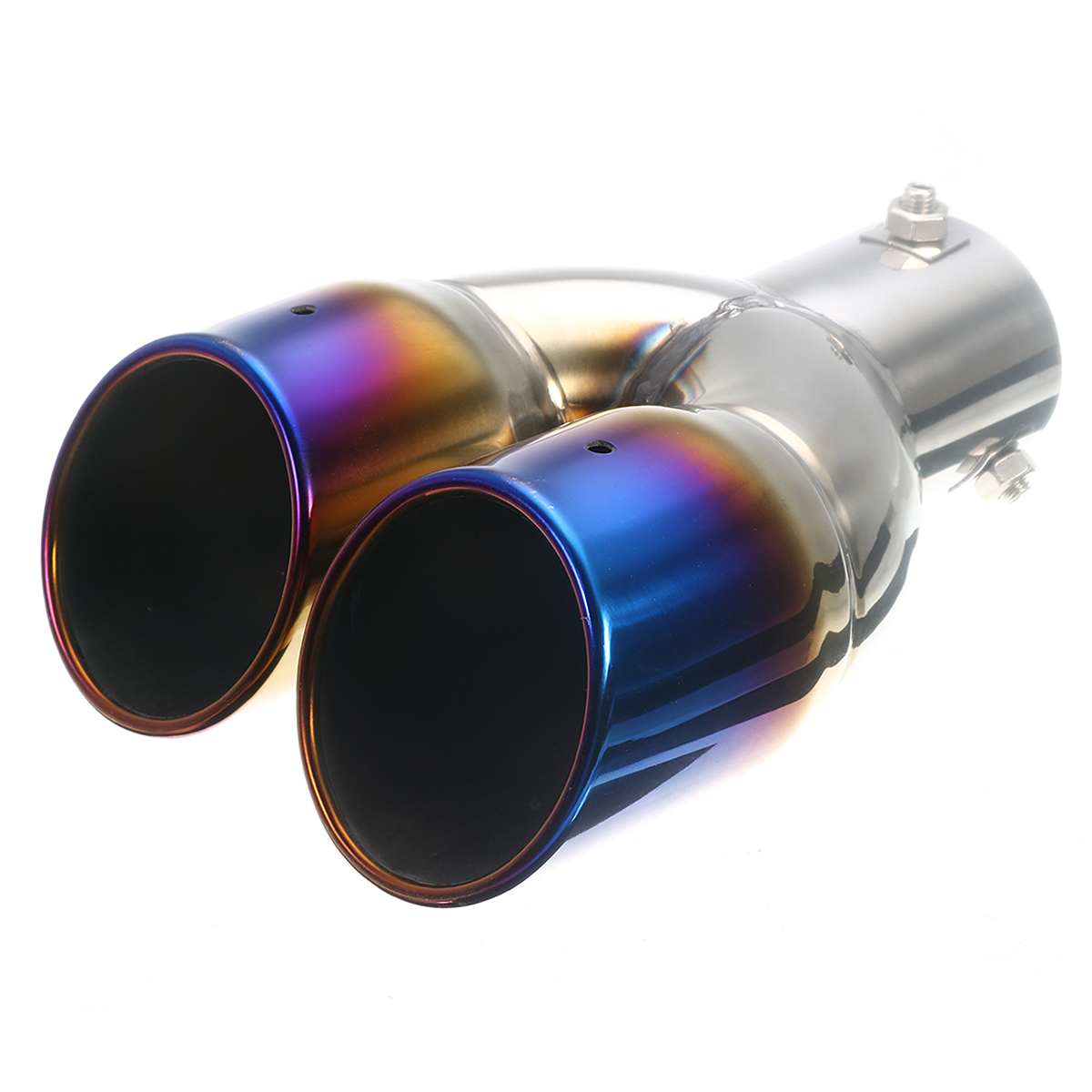 63mm Universal Black Stainless Steel Rear Exhaust Pipe Tail Muffler Tip Cover