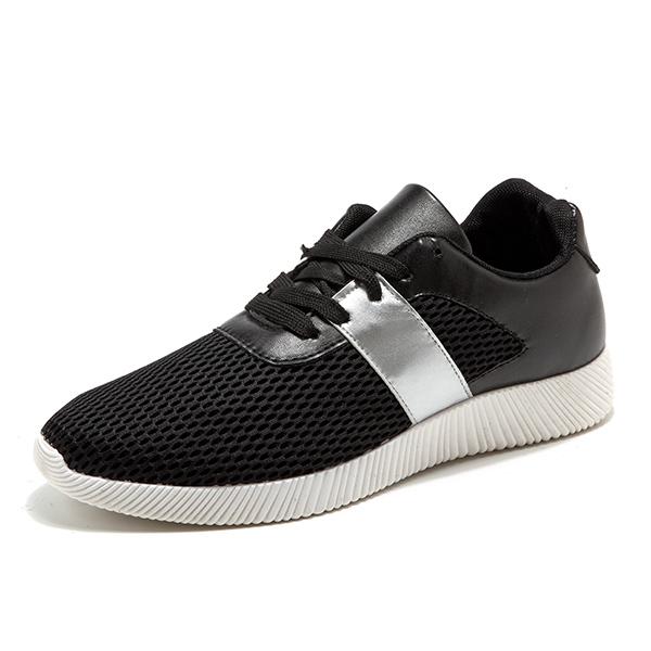 Men Breathable Mesh Lace Up Athletic Shoes