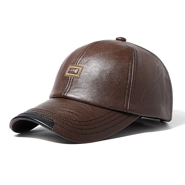 Mens Retro Faux Suede Flat Peak Adjustable Snapback Baseball Cap Hat
