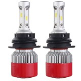 Pair COB LED Car Headlight Kit 6000K H4 H7 H11 H13 9007 60W 7200LM