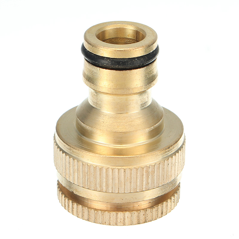1/2 & 3/4 Inch Brass Faucet Adapter Female Washing Machine Tap Hose ...