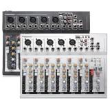 Professional 7 Channel Mixer Live Digtal Studio Audio USB Karaoke KTV DJ Mixing Console 48V