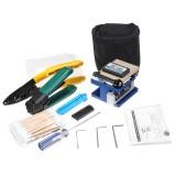 FTTH Splicing Splice Fiber Optic Stripping Tool Kits With Fiber Cleaver FC-6S