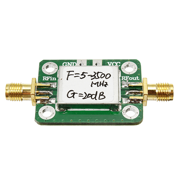 LNA 5-3500MHz 20dB Gain Broadband Low Noise RF Amplifier With Shielding Shell