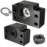 Machifit 2pcs BK10 BF10 Ball Screw End Supports Bearing Blocks for Ball Screw SFU1204 CNC Machine
