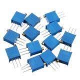 100R-1M 39pcs 13 Values 3296 Potentiometer Pack Adjustable Resistance Pack Component Pack 3pcs Each Value