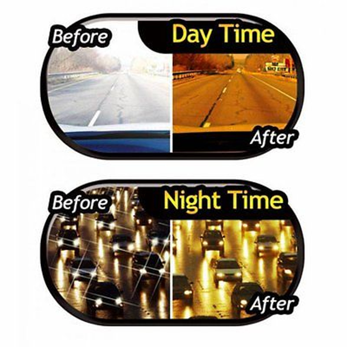 Unisex Night Driving Glasses Polarized Anti Glare Night Vision Driver Safety Sunglasses