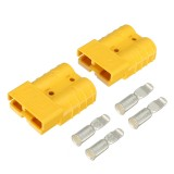 2Pcs 50A  DC12/24V Anderson Style Plug Connectors Anderson Power Plug 4X Terminals Yellow