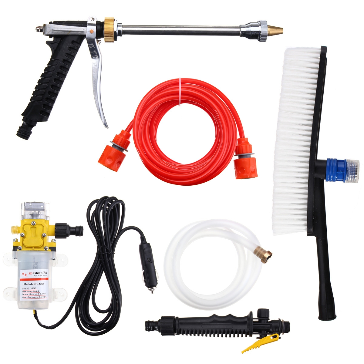 12v portable 100w 160psi high pressure electric washer for Pressure washer pump electric motor