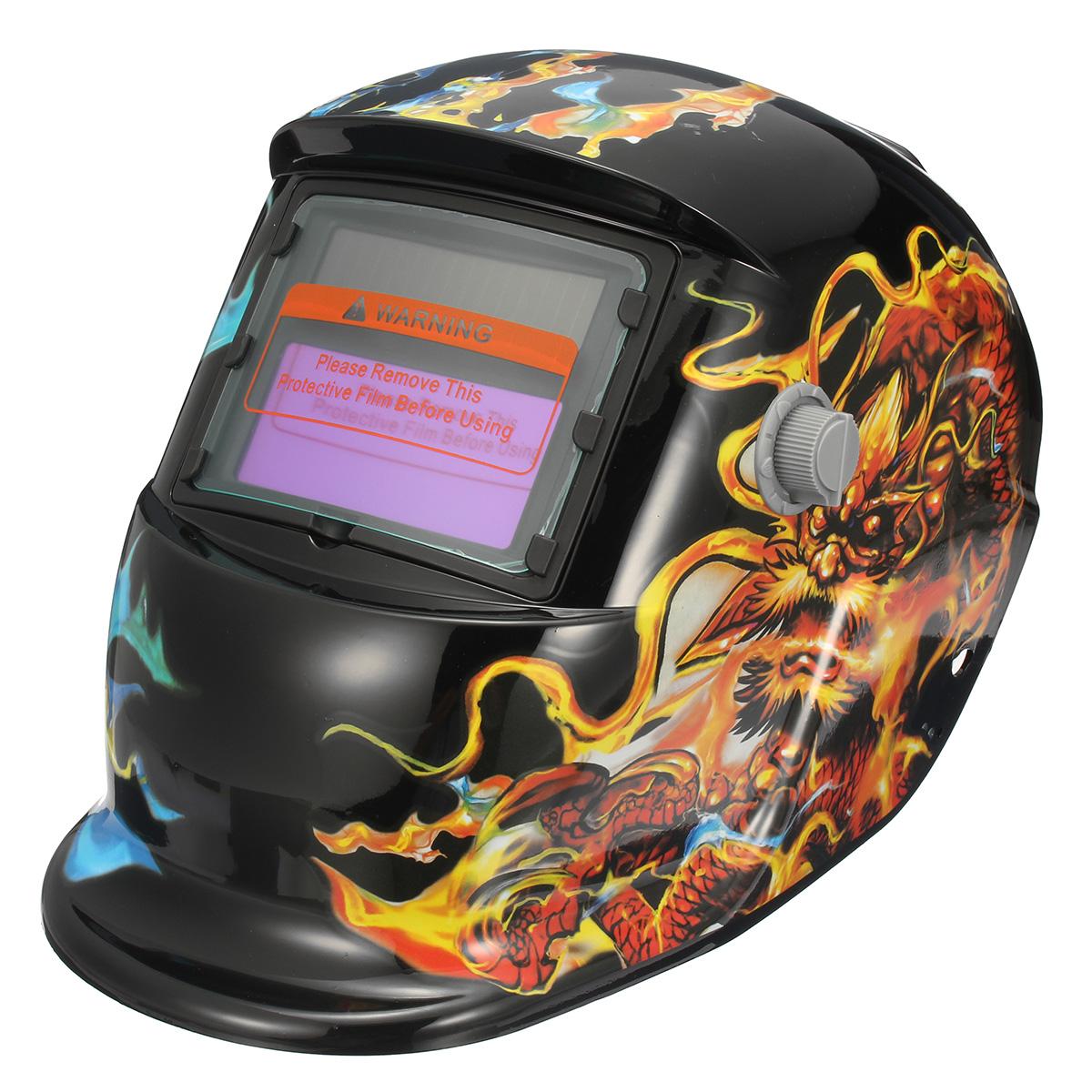Solar Auto-Darkening Welding Helmet Len Mask Grinding
