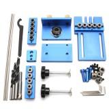 Aluminium Alloy Jig Dowelling Jig Set Wood Dowel Drilling Position Jig Woodworking Tool
