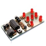 Electronic Dice DIY Kit 5mm Red LED Interesting Parts NE555 CD4017 Electronic Production Suite