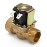3/4 Inch Electric Solenoid Valve 12V  DC VDC Slim Brass NPSM Gas Water Air N/C