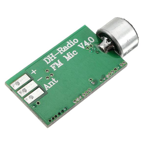 FM Wireless Microphone Pickup Wireless Audio Transmitter FM Emission MIC Core Board V4.0 100MHz