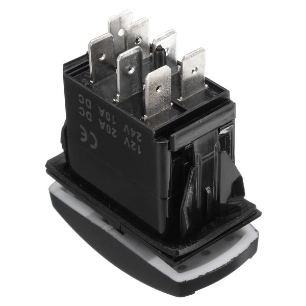 ON ON Laser WINCH MOMENTARY Rocker Switch -OFF- led Light 20A 12V GREEN