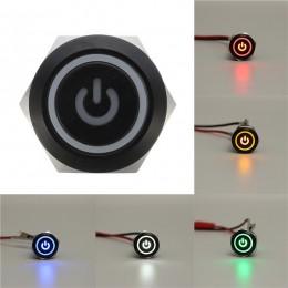 12V 2A 9 5mm Waterproof LED Metal Cap Power Momentary Push