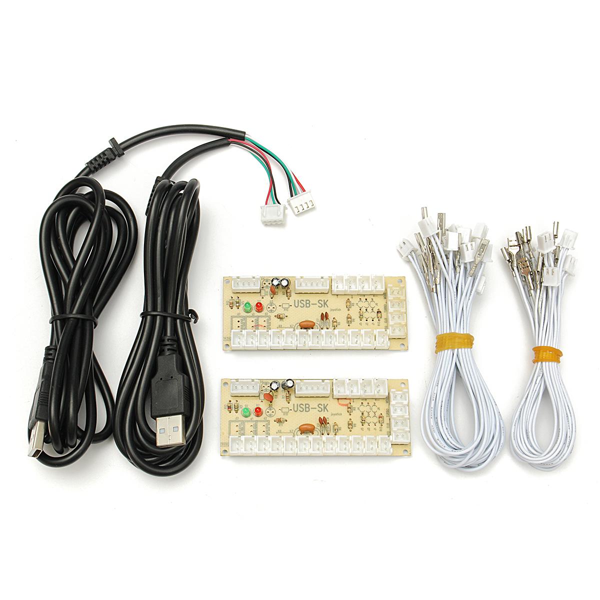 Arcade Encoder PC To 2pin Joystick + Happ Button 4 8mm Wires Zero Delay USB